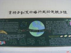 关于世界环境日黑板报