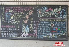 关于学好语言黑板报