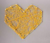 创意制作手工,螺纹心形墙艺装饰创意设计