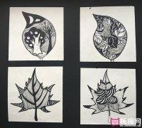 漂亮的树叶图案,树叶图案设计素材