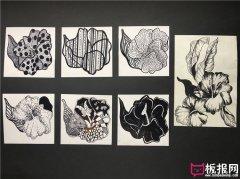 七种好看的花卉图案素材,装饰图案