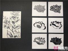 七种花卉装饰图案,图案素材