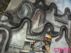 创意科幻画作品,钉子画宏伟的长城