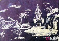 漂亮的儿童版画图片,海岛风景