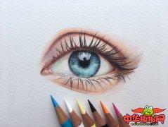 彩铅画眼睛教程步骤图,彩铅手绘眼睛详细教程