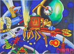 小学生科幻画作品图片,科技的力量